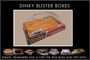 Dinky Toys 106 Thunderbird 2 Red/Blue Version Blister/Bubble Repro Box