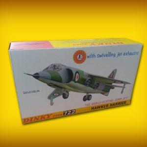 Dinky 722 Hawker Harrier Jump Jet Repro Box