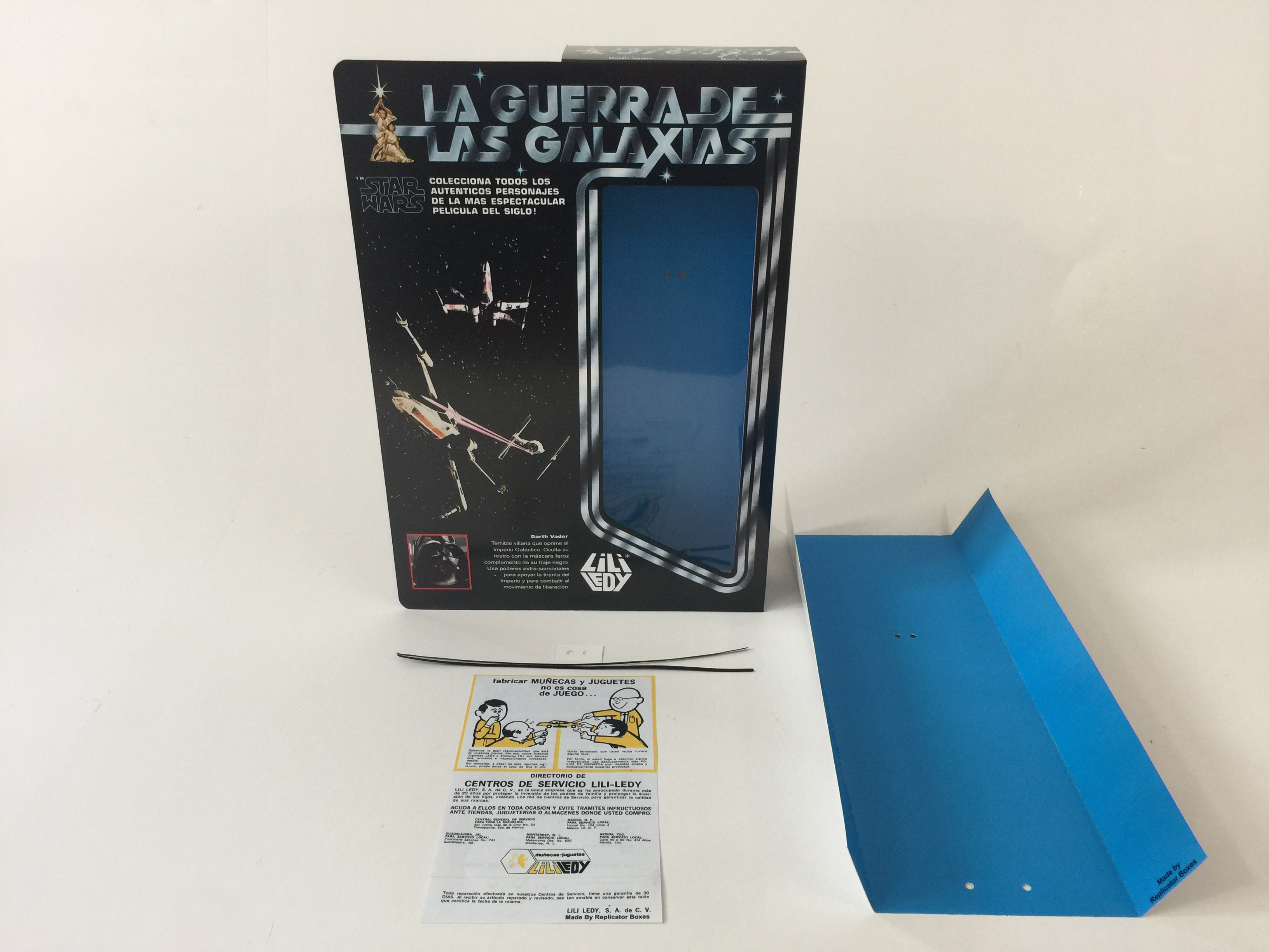 """Amphibious Pelicula replacement vintage star wars 12"""" lili ledy darth vader box and inserts"""