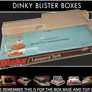 Dinky Toys 692 Leopard Tank Reproduction Blister box
