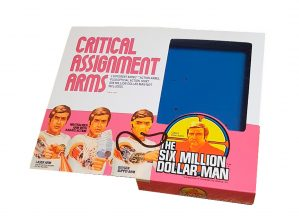 Denys Fisher Six Million Dollar Man Critical Assignment Arms Reproduction Box front of box