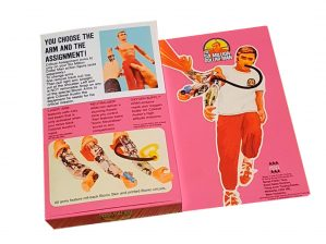 Denys Fisher Six Million Dollar Man Critical Assignment Arms Reproduction Boxk back of box