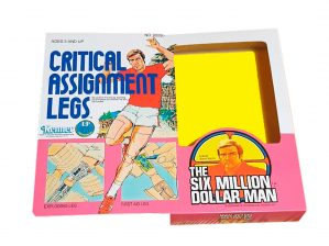 Kenner Six Million Dollar Man Critical Assignment Legs Reproduction Box front of box