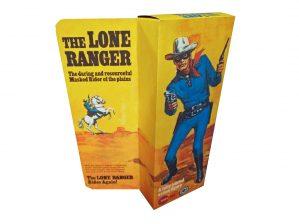 Marx Toys The Lone Ranger Figure Repro Box rear