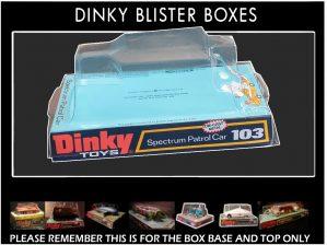 Dinky Toys 103 Spectrum Patrol Car (SPC) Thicker Font version Captain Scarlet Blister/Bubble Repro Box