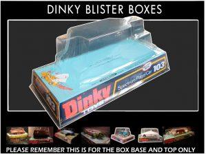 Dinky Toys 103 Spectrum Patrol Car (SPC) Thick Font Version Captain Scarlet Blister/Bubble Repro Box