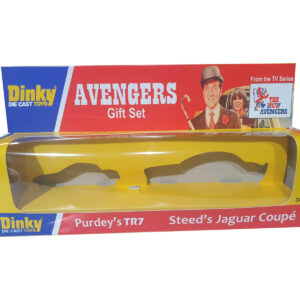 Dinky Toys 307 New Avengers Steed's Jaguar XJ12 and Purdey's TR7 Repro Box Code 3 - front