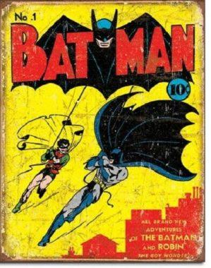 DC Comics Batman No.1 Metal Wall Hanging Sign Plaque Retro Decor Wall Art