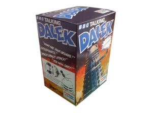 This Palitoy BBC Talking Dalek Repro Box with inserts has been printed on smooth vinyl and fixed to 400gsm card and will allow you to display your Palitoy BBC Talking Dalek at its very best. See pictures.